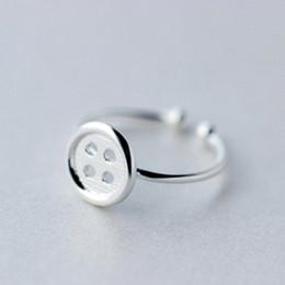Wholesale Pure Silver Buttons - 5pcs lot Real Pure 925 Sterling Silver Midi Rings Fashion Statement Jewelry Button Ring Anillo de plata