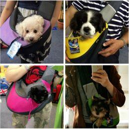 Wholesale Backpack Dog Carriers - Special Design Pet Dog Cat Puppy Carrier Mesh Travel Tote Shoulder Bag Sling Backpack Comfortable Dog Backpack Free Shipping