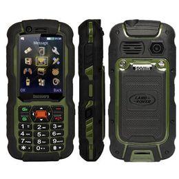 Wholesale Elder People Mobile Phone - A12 PTT walkie talkie Waterpoof IP67 Phone 3800battery GSM LED Flashlight 0.3MP Russian keyboard elder people mobile phone s6 x1
