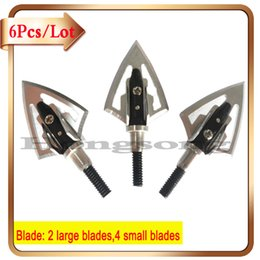 Wholesale Wholesale Hunting Equipment - 6Pcs Arrow Shafts Bow Hunting Heads Arrow Tips 100 Grains Archery Hunting Screw Arrow Broadheads Archery Equipment