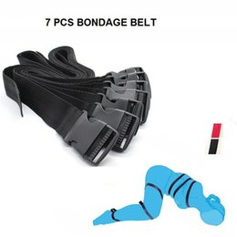 Wholesale Body Restraint Sex - japanese bondage Nylon Belt 7PCS Set Body Fetish Adjustable Bondage Belt Restraint Device Set juguetes adult games Sex Toys for couples