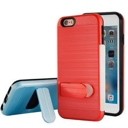 Wholesale Imperial Gold - Brushed Hybrid Armor Kickstand Case credit card slot For ZTE A315 Zmax pro z981 kirk z963u z988 z942 imperial max max duo 4G warp7 case