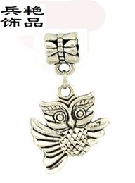 Wholesale Jewelry Wholesale Process - Simple Flying wings Owl Pendant alloy Bead factory production processing wholesale strange animal shape pendant jewelry