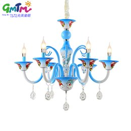 Wholesale Home Deco Candle - Home decoration modern crystal chandelier lighting kids room Cartoon cat and mouse ceiling chandeliers protective eye warm candle light