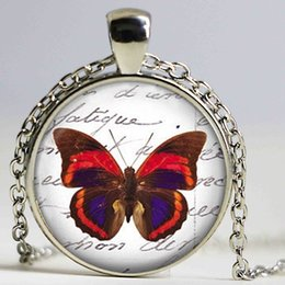 Wholesale Turkish Jewellery Wholesale - Blue butterfly pendant necklace womens jewellery channel necklace glass pendant animal necklace men jewelery turkish necklaces