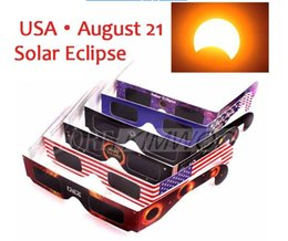 Wholesale Wholesale Frames Usa - 2017 USA Solar Eclipse Glasses Viewing Filter 3D Eclipse Goggle Protect Eyes when 21th August DHL Free Fast Shipping