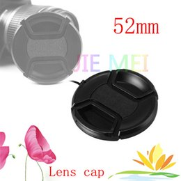 Wholesale Lens Cap Snap - Wholesale-Free shipping 52mm center pinch Snap-on cap cover for camera 52 mm Lens