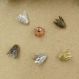 07880 9 * 10mm Mix bronze antique argent pistolet en or rose noir filigrane casquettes de perle de fleur, fabrication de bijoux Résultats ? partir de fabricateur