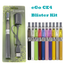 Sacoche ego ce4 blister simple en Ligne-CE4 Ego Starter Kit Electronic Cigarette Blister Packing kit unique 1.6ml CE4 Atomizer 650mah 900mah 1100mah eGo T batterie
