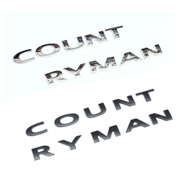 Wholesale Mini Emblem - 3D Metal Countryman Rear Trunk Emblem Badge for MINI Cooper S R60 F60 Styling Exterior Car Accessory