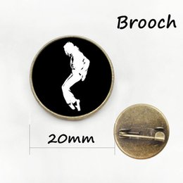 Wholesale Eastern Dance - Rock band pop star Michael Jackson brooches dress Accessory MJ dancing pins fashion boys men' s jewelry free shipping