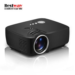 Wholesale Full Hd Dlp Projector - Wholesale-GP70 LED Projector Mini proyector Full HD 1200 Lumens Home Theater Video Projector 1080P 120Inches Projectors China 4K Projektor