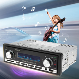 Wholesale 12v Transmitter Receiver - Car MP3 Player Car Audio Stereo In-dash FM Aux Input Receiver SD USB MP3 MMC WMA 12V Bluetooth V2.0 JSD-20158 Car Radio Player