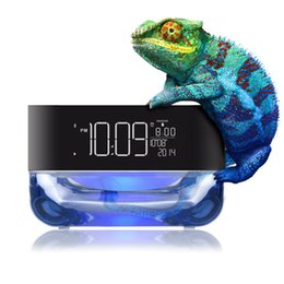 Wholesale Remote Alarm Lamp - CrystalSoul Wireless Bluetooth Speaker with Rhythm Colorful Light Alarm Clock Radio TF Card Play &Remote Control Lamp Crystal Soul Subwoofer