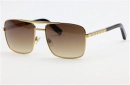 Wholesale Cool Sunglass - 2017 new men brand designer sunglass attitude sunglasses square logo on lens metal sunglasses square frame outdoor cool deisgn L3258