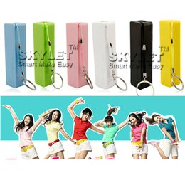 Wholesale Emergency Charger For Iphone5 - Full 2600mAh Power Bank Perfume Portable External Battery Charger Rechargerable Emergency External Battery For S4 S5 iphone5 Retail Package
