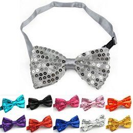 Wholesale Kid Sequin Ties - Wholesale- Fashion New Boys Girls School Fashion Bow tie For Kids Bowtie Sequins Candy Colorful Baby Butterfly Cravat