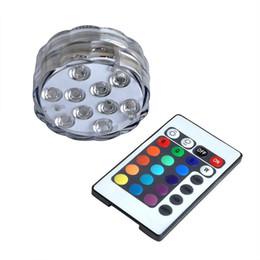 Wholesale Led Lighting For Night Fishing - Wholesale- 10 LED Waterproof Light RGB for Vase Wedding Party Fish Tank Decors Night Lights Night Lights