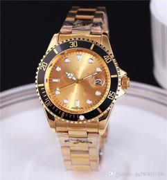 Wholesale Men Belt Watches - automatic date luxury fashion men of the steel belt movement quartz clock men watch