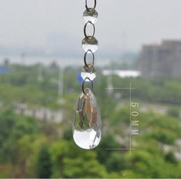 Wholesale Wedding Tree Centerpiece Crystal - Acrylic Crystal Bead Garland Strand 14 mm Bead Chains Drop Hanging Pendant Wedding Props Centerpiece Manzanita Tree Curtain Decoration