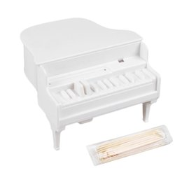 Wholesale Toothpick Shapes - Wholesale- Piano Shaped Toothpick Holder Box Ornaments Table Decor Supplies Tools