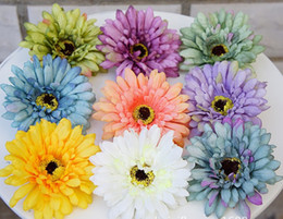 Wholesale Wholesale Handbag Displays - African Chrysanthemmum Flower Head Shape Similar to Small Sunflower Gerbera Decoration for handbag Gift Box Skirt and Hat Camera Props