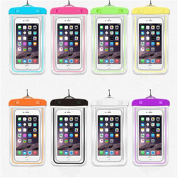 Wholesale Case For Iphon - Waterproof Bag With Luminous Underwater Pouch Phone Case For iphon 6 6s 7 Plus For Samsung S6 S7 S8 For Huawei Xiaomi