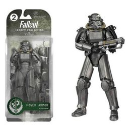 "Wholesale Power Pvc - Two Colors Fallout 4 PVC Action Figure 8"" Power Armor Out of Clothing Toys Gifts Collections Displays Brinquedos"