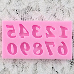Vente en gros-nouveau numéro Silicone à la main Fondant moule gâteau décoration bricolage moule pâtisserie outils ? partir de fabricateur
