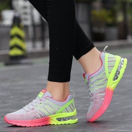 Wholesale Korean Style Running Shoes - 2017 women new net air cushion shoes Korean style sneakers women flat casual sports running shoes