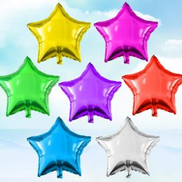 Wholesale Star Shape Balloons - 1Piece 18inch Star Shape Aluminium Foil Balloon for Wedding Party Decoration Birthday Kid Party Float Balloons Toys