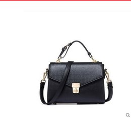 Wholesale Genuine Crocodile Shoulder Bags - Free shipping leather handbag 2017 oblique satchel crocodile grain cowhide single soft leather aslant bag shoulder bag