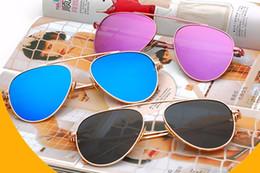 Wholesale Vintage Rose Mirror - TSHING Women Rose Gold Mirror Retro Aviation Sunglasses Men Fashion Brand Designer Vintage Sun Glasses For Female Male Driving