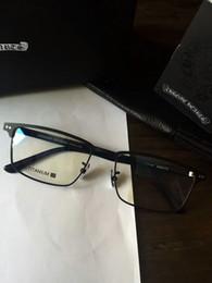 74070a769b chrome glasses frame clear lense Pure titanium frame myopia eyeglasses  Retro oculos de grau men and women myopia eyeglasses frames with box