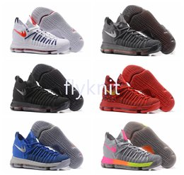 Wholesale Silk Roses Top - 2017 Fashion Arrival Kevin KD 9 Elite Mens Basketball Shoes Top quality KD9 Durant IX BHM Mens Training Sports Sneakers Size 7-12