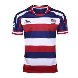 2019 frete grátis malásia Frete grátis! Malásia rugby jersey preto de Alta-temperatura de impressão de transferência de calor Rugby Camisas durável lavado frete grátis malásia barato