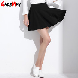 Wholesale Army Shorts For Women - Short Skirt for Women 2017 All Fit Tutu School Skirt White Back Color Women Clothing Short Skirts Faldas Ball Gown