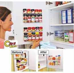 Canada Agrafe En Gros Clip N Store Cuisine Bouteille Épice Organisateur Rack Cabinet Porte Clips 20-Clip Set Offre