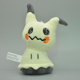 "Wholesale Pokemon Doll Pikachu - Top New 5"" 13CM Sun & Moon Mimikyu Pikachu Poke Doll Anime Collectible Pocket Monsters Keychains Pendants Plush Dolls Party Gifts Soft Toys"