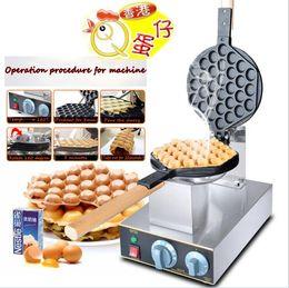 Wholesale Egg Waffle - Electric 110V 220V Bubble Egg Waffle Maker Hong Kong egg puff cake waffle iron maker Cooking machine get 6 Free gifts