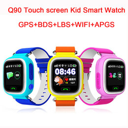 Wholesale Gps Monitor For Child - Wholesale- Child Q90 Touch Screen WIFI Smart baby Watch Location Finder Device GPS Tracker watch for Kids Anti Lost Monitor smartwatch