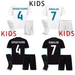 Wholesale Youth Real Madrid Jerseys - 17 18 KIDS Real Madrid Soccer Jersey Cristiano Ronaldo Children Youth 2017 2018 Boy Sergio Ramos Modric Kroos Marcelo Football Shirt