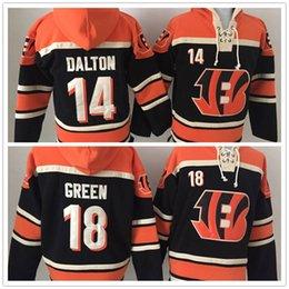 Wholesale Order Hoodies - Stitched Bengalz Hoody 14 DALTON  18 GREEN Black Hockey Men Hoodie Jerseys Ice Jersey Mix Order