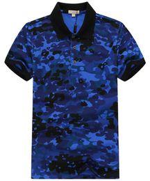 Chemises de l'armée en Ligne-T-shirts d'été en coton de qualité supérieure pour hommes d'affaires polo revers polo chemises de camouflage loisirs Army dazzle Polos rouge bleu