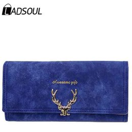 Wholesale Vintage Keys Wholesale Prices - Wholesale- Women Wallets And Puses Matte Famous Brands Luxury Dollar Price Deer Women Wallets Carteira Feminina hl7873 h
