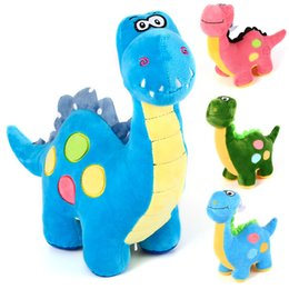 Wholesale Children S Day Gift Wholesale - Hot New 2017 Kawaii Animal Dinosaur Plush Toys Dinosaur Doll Lovely Birthday Gift Kids Children 'S Cartoon Dolls 21cm Soft