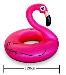 Riesenschwimmenring online-Aufblasbare Untersetzer Riesen Rosa Flamingo Pool Schwimmende Bar Untersetzer Getränkehalter Schwimmen Ring Bali Wasserversorgung Big Swan 28hs