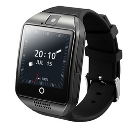 Wholesale Gps Fashion - Q18 Plus Android 4.4 Smart Watch Phone 3G GPS WiFi Fashion Wristwatch Camera Video Smartwatch With 512MB 4G Memory Bluetooth Clock