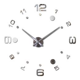 Картины акриловые онлайн-Оптовая продажа-2016 Новый настенные часы краткое дизайн diy акриловые часы Horloge акриловые кварцевые часы наклейки краткое гостиная декоративные картины