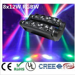 Wholesale Dj Moving Head Beams - led moving head light led spider light dj 8x12w rgbw 4in1 beam light
